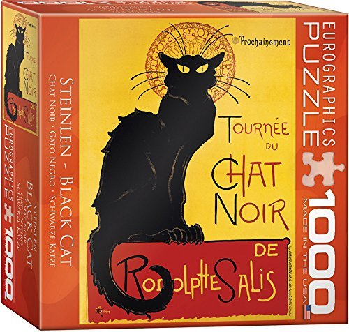 Chat Noir by Steinlen Puzzle, 1000 Piece by EuroGraphics