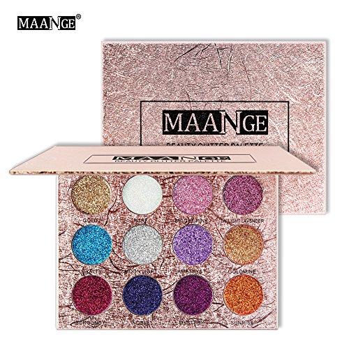 Maange Sombras de Ojos Paletas de Maquillaje de 12 Colores Sombras de...