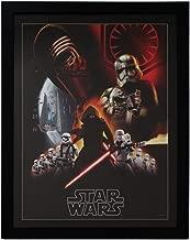 Silver Buffalo SE9992 Disney Star Wars Ep7 Villain Group Poster Framed Wall Art Under Acrylic, 20 x 26 inches