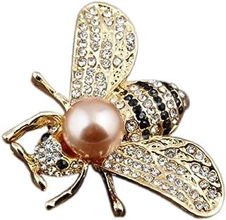 Culer Shell Forma Temática De La Miel De Abeja Broches De Cristal Broche De La Perla De Insectos Animal Perla Broche
