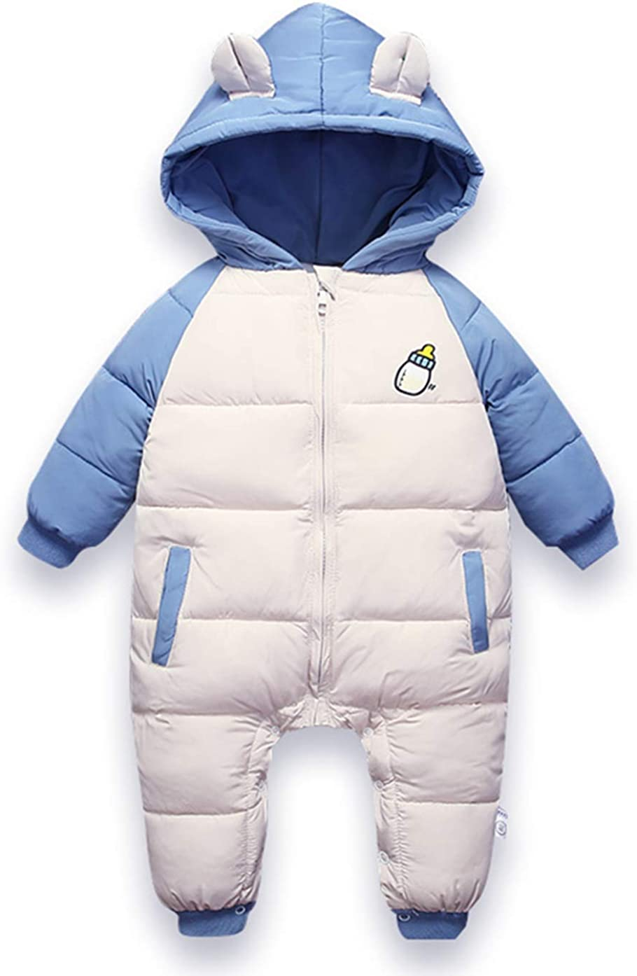 Baby Cotton Romper Toddler Thermal Winter Coat Thick Zipper Windproof Snowsuit
