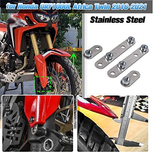 AHOLAA Accesorios de motocicleta Guardabarros Delantero de Acero Inoxidable Elevador kit de...