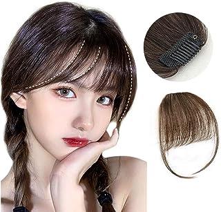 Vigorousウィッグ前髪 人毛100% 手植え レディース エクステンション かつら ナチュラル シースルーバング 清新感 空気感 小顔効果 薄型