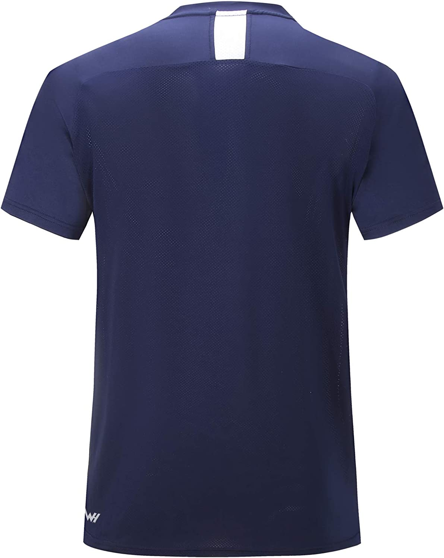 WHCREAT Herren T-Shirt Kurzarm Atmungsaktives Sportshirt Rundhalsausschnitt Laufshirt