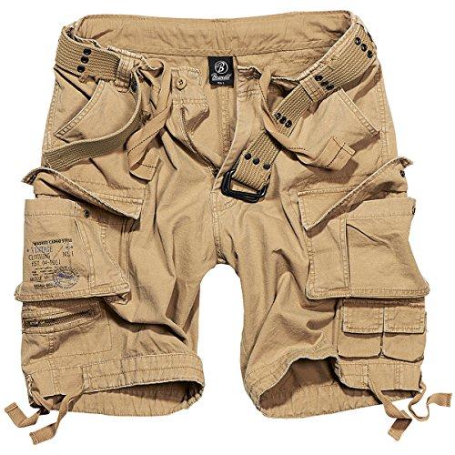 Brandit Herren Savage Vintage Shorts, Beige, 5XL