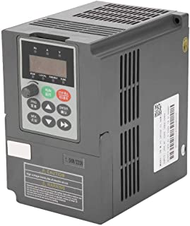Frequency Converter, 1.5kW 2HP Vector Type VFD Inverter Converters 1-Phase 220V to 3-Phase 0-220V 7A