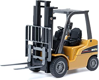 duturpo 1/50 Scale Diecast Forklift Truck Toys, High Detail Metal Construction Vehicles Model Toy for Kids (Forklift)