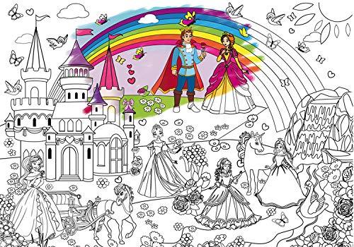 Alex Art, Póster gigante para colorear – Póster de princesa enormes a color...