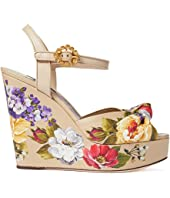 Nappa Leather Wedge Sandals