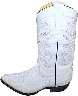 Crocodile Alligator Design Genuine Leather Handcrafted Cowboy Men Western Boots