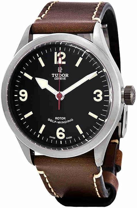 Orologio tudor heritage ranger automatico quadrante nero mens watch 79910-0007