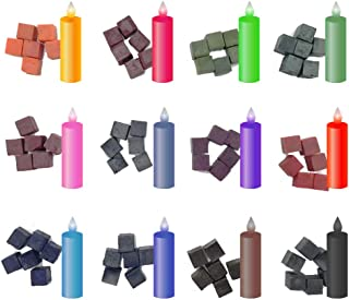 DIY Soy Candle Dye Cube Coloring Wax Block for Unique Soy Candles, Scented Candle Making,12 Dye Colors,72 Cubes