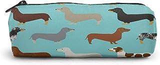 Doxie - Portapenne a forma di bassotto, per cani, cani, cani e cani Doxie, con cerniera, per studenti, articoli di cancell...