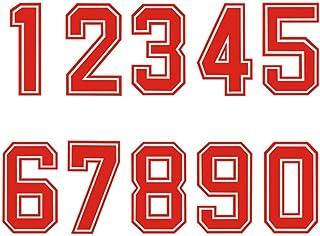 Números para planchar por transferencia de calor en