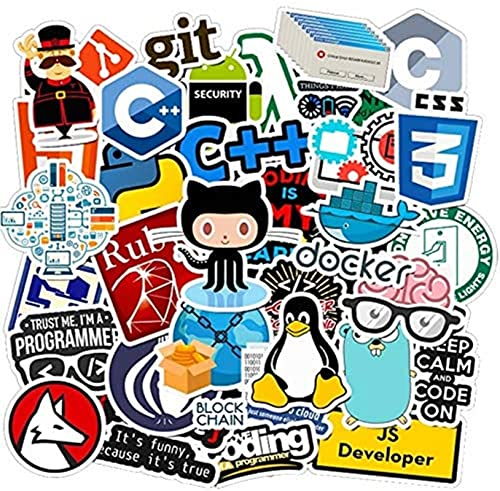 Earmeryy 50 Uds, Programador de Internet Java, Pegatinas Friki, Graffiti, teléfono, Snowboard,...