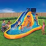 Inflatable Water Slide - Huge Kids Pool (14 Feet Long by 8 Feet High) with Built in...