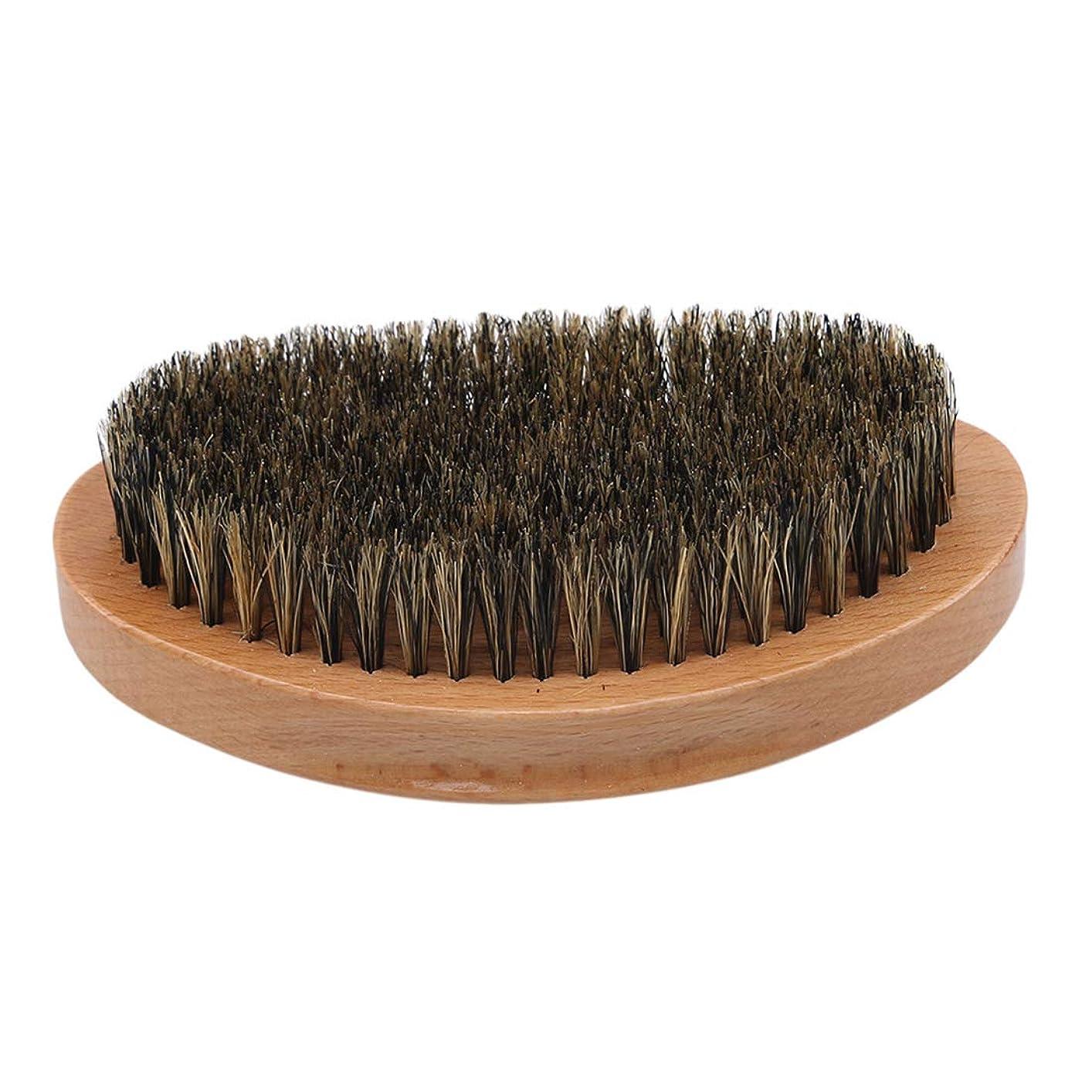 わな疑問を超えてトラップKLUMA ひげブラシ シェービングブラシ 髭剃り 毛髭ブラシ 泡立ち 理容 美容ツール 旅行用 1#