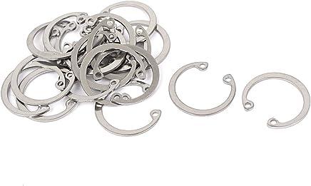 sourcingmap 13mm acier Inox circlips int/érieur ext/érieur C-Clip Anneau 50pcs