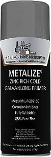 Metalize Flat Zinc Rich Cold Galvanizing Industrial Primer Aerosol - 10.75 oz, (Case of 12)