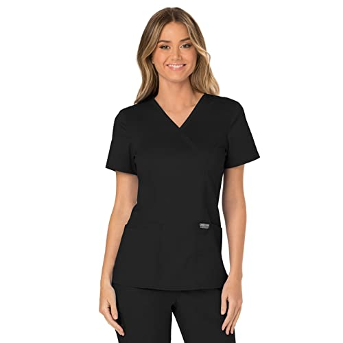 cab728509a3 Cherokee Workwear Revolution Women's Mock Wrap Scrub Top