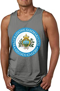 Rigg-vest Flag of San Marino Mens Sleeveless Garment O-Neck Black Tank Top