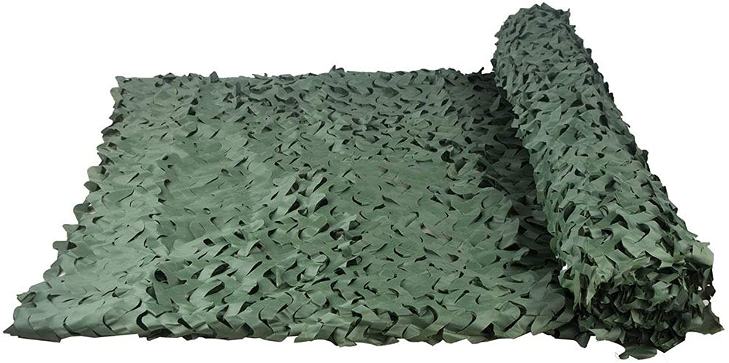 HAIPENG Camouflage Netting Camo Net Blinds Sunshade Sunscreen Nets Great for Camping Shooting Hunting Woodland (color   Green, Size   2X5m)