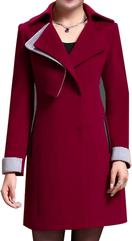 Ms. Autumn And Winter Woolen Coat Cashmere Wool Coat Long Coat