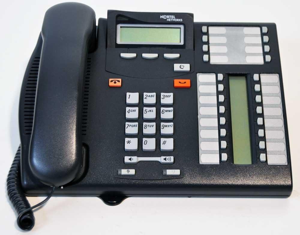 Nortel T7316 Telephone Import Renewed Charcoal Los Angeles Mall