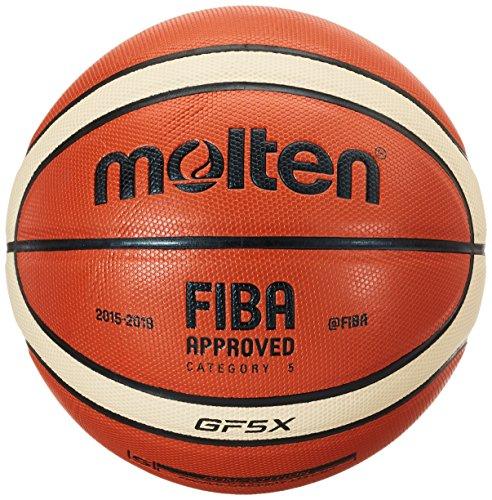 Molten Spielball Orange Gr. 5 Basketball, mehefarbig (Orange/Ivory), 5