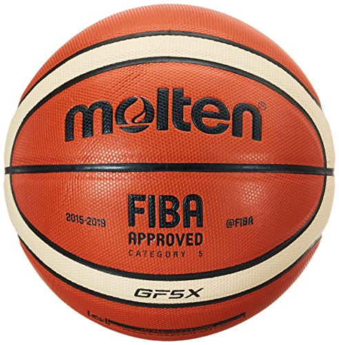 Molten Spielball Orange Gr. 5 Basketball, mehefarbig (Orange/Ivory), 5