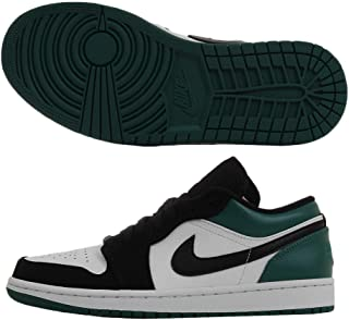 Jordan Air 1 Low (White/Black-Mystic Green 9.5)