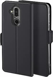 Viankors Case for Nokia 8.1 Mobile Phone case, [Stand Function] [Card Slot] [Magnet] [Anti-Slip] Premium Leather Flip Case Cover for Nokia 8.1Mobile Phone case (Black)