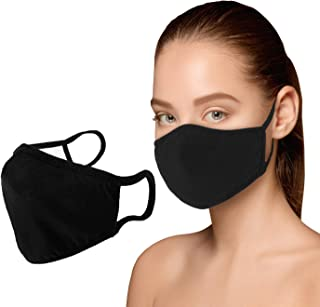 Cotton Face Mouth Mask Dustproof Facial UV Protective 3 Layers Cover Reusable Washable Black Masks for Women Men TPZA93095