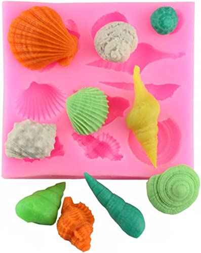 2021 Z-bond Candy online sale Molds with Dropper Mermaid Tail Sea outlet sale Shell Suger online sale