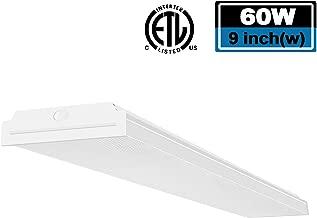 FaithSail 4FT LED Wraparound Light 60W LED Office Lights, 7200lm, 4000K Neutral White, 4 Foot Flush Mount LED Wrap Shop Puff Ceiling Lighting Fixture for Garage Workshop, Fluorescent Light Replacement