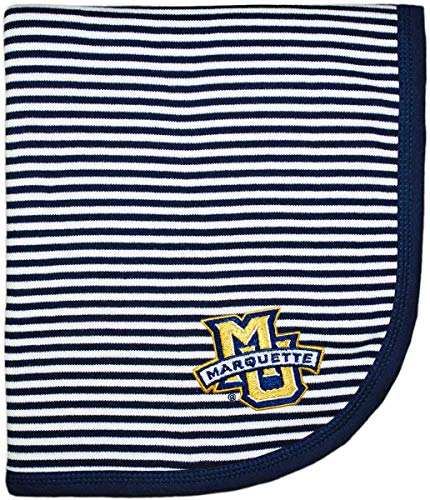 Creative Knitwear Marquette University Golden Eagles Striped Baby and Toddler Blanket