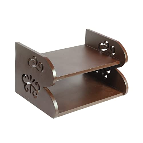 Gadget Deals Wooden Set Top Box Stand Router and Remote Holder