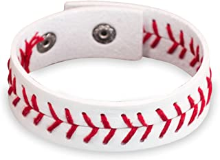 baseball leather bracelet