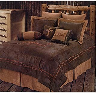 rustic cross bedding