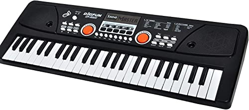 PSB Best Wireless Piano Dc Power Option Electronic Musical Instruments 49 Keys Toy Music Piano Keyboard with Microphone Boys Kids Girls USB Microphone Adapter Power Included