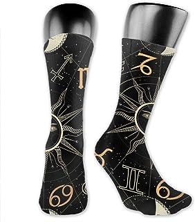 Bert-Collins, Calcetines personalizados de sol, luna y estrellas para mujeres y hombres, medias medianas para correr, atletismo, viajes, uso diario