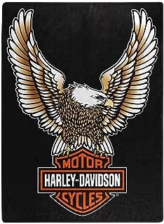 Harley-Davidson Fly High Large Raschel Throw Blanket, 60 x 80 inch NW117355