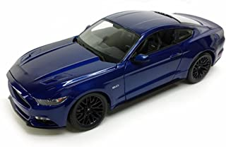 Maisto 2015 Ford Mustang GT, Blue 31508BU - 1/24 Scale diecast Model car