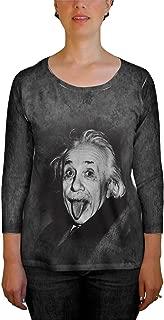 Albert Einstein Sticks Out His Tongue -Tshirt- Womens Tank Top