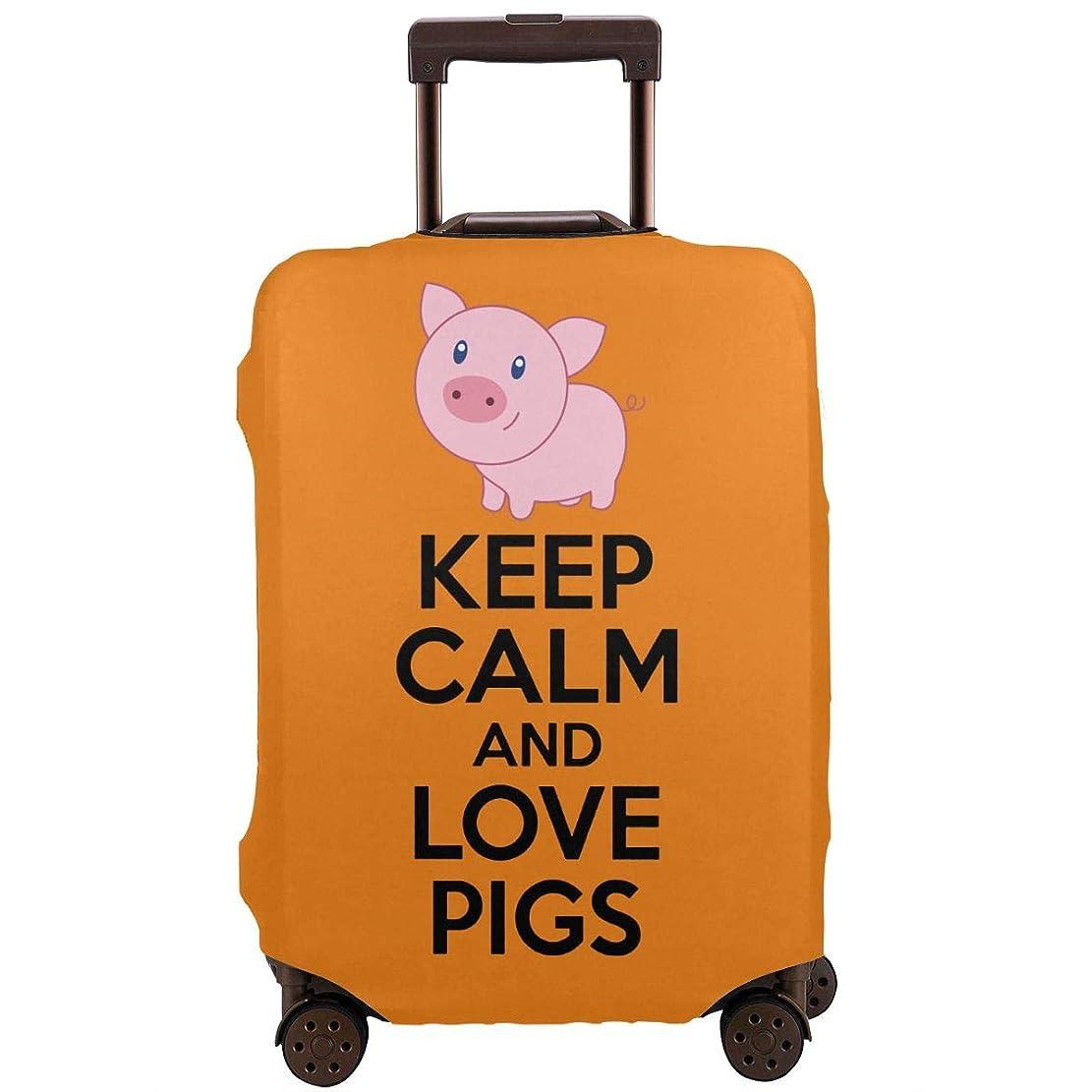 隔離する組立儀式Hanawujinha キャリーバッグカバー スーツケースカバー お荷物カバー 冷静さ 保つ 豚 ピッグ 好き 伸縮素材 国内旅行 海外旅行 おしゃれ 着脱やすい 防塵 防水 防汚れ 傷付き防止 防盗 洗える
