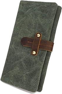 Wallet For Men Men's Purse Canvas Retro Multifunctional Waterproof Wallet Fashion Clutch (Color, Blue, Size, S),Bronze,Small