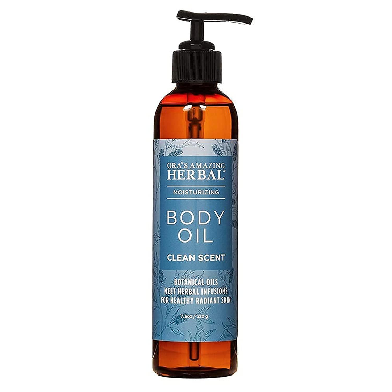 Body Oil For Dry Skin, Natural Body Oil, Moisturizing Body Oil, Clean Scent, Lemongrass Oil, Eucalyptus Oil, and more Essential Oils, Ora's Amazing Herbal