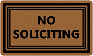 No Soliciting Funny Design Indoor/Outdoor Doormat 30(L)X18(W) inch Non-Slip Machine-washable Home Decor Mat