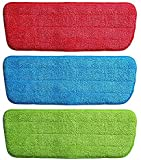 Diximo Microfiber Spray Mop Replacement Head Pads (Set of 3) (Multicolour)