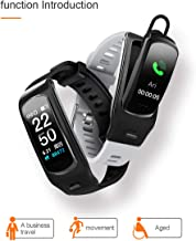 PGTC Fitness Sport Smartwatch Bluetooth Headset with Heart Rate Monitor, Blood Pressure Test Smart Talkband Calorie Counter Pedometer Watch for Android and iPhone